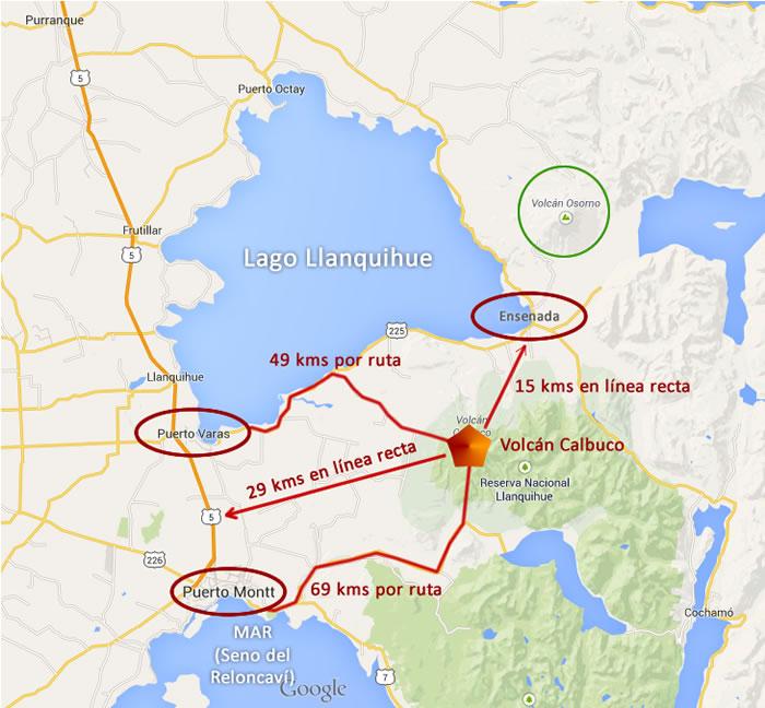 Calbuco Mapa 2015